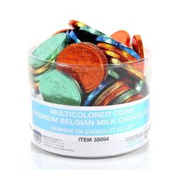 Multicolored Chocolate Coin Tub - Dairy