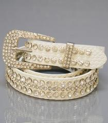 Fashion Belt w/Rhinestone & Stud