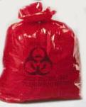 """24x23"""" - 250/case - Red Bio-Hazard Waste"""