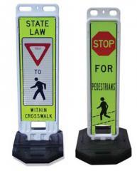 Yield To Pedestrian Within Crosswalk Barricade