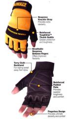 DeWalt DPG23 - Fingerless Synthetic Leather