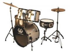 Gig Percussion 5-Piece Complete Drum Set Metallic