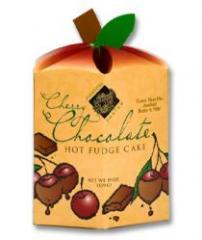 Cherry Chocolate Hot Fudge Cake