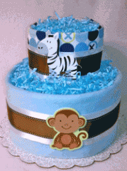New Baby Blue Diaper Cake