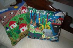 Peruvian Town and Jungle Throw Pillows