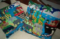 Peruvian Handmade Noah's Ark Throw Pillows