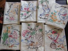 Bluebird Days of Week Kitchen Towels