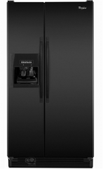 Side-by-Side Refrigerator with Full-Width Adjustable Slide-Out SpillGuard Glass Shelves