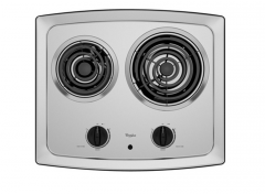 Electric Cooktop with High-Speed Elements and Stainless Steel Surface