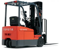 Toyota's 7FBEU Series 3-wheel Electric Lift