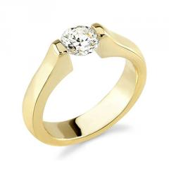 18K Yellow Gold Ladies Diamond Engagement Ring (0.25 Carat)