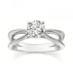 14K White Gold Engagement Ring (1.00 Total Carat) With Center Stone 1