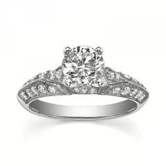 14K White Gold Engagement Ring (1.294 Total Carat)