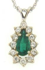 Emerald and Diamond Pendant, P1405