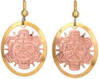 Native Sun Mask Earrings TS08
