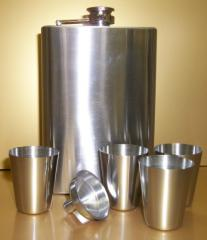 6pc Stainless Steel Flask Set