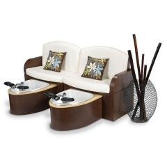 Calais Double Bench Pedicure Spa