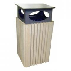 40 Gallon Trash Receptacle with Rain Cap