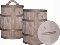 Wooden Nail Kegs and Lid
