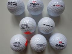 Golf Ball with Assorted Sayings