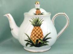 Southern Hospitality Porcelain Pineapple Teapot