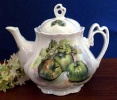 Green Apple Porcelain Teapot