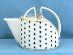 Royal Imperial Pennant Porcelain - Cobalt Crackle