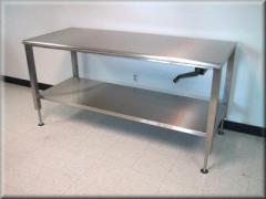 Stainless Steel Adjustable Height Table Model