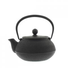 Hobnail Cast Iron Teapot - Black