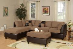 3 Pieces Saddle Microfiber Reversible Sectional