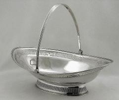 Georgian Silver Basket, London 1787 by William