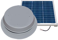 50 Watt - Solar Attic Fan - Roof Mount