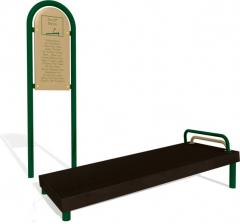 Sit Up Bench Station with Sign