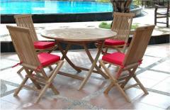 """Bahama 47"""" Round Folding Dining Set"""