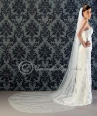 Cathedral Wedding Veil with Colored Rhinestones