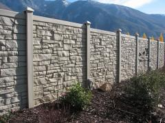 Stone Look Fence