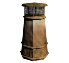 European Copper Chimney Pot - King