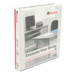 Round Ring Economy Vinyl View Binder, 1""