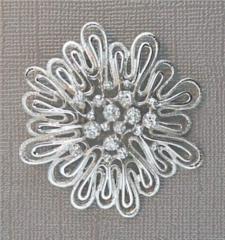 Silvertone dome pin