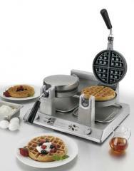 Waring Belgian Waffle Maker, double, 120v