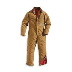 Men's Brown Duck Quilt - Lined Coveralls