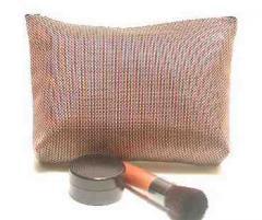 Metallic Port Cosmetic Clutch