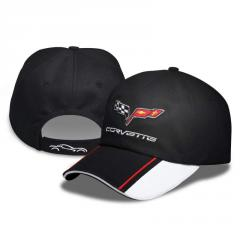 Crossed Flag Colorblock Cap Corvette C6