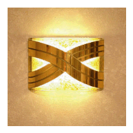 LED golden wall sconce