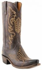 Mens Lucchese Since 1883 Chocolate Burnished Mad