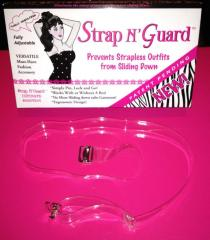 Clear Straps with Exclusive Brooch Pin-Hooks