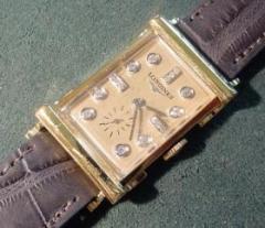 14k Vintage Watch Diamond Dial