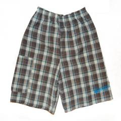 Chocolate Soup (Hearts for Haiti) Brown Plaid Shorts