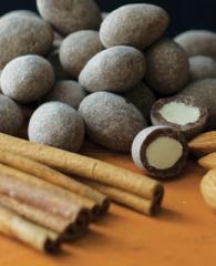 Cinnamon Dusted Chocolate Almonds