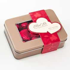Milk Chocolate Foil Wrapped Heart Tin